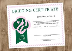 girl scout bridging | girl scouts party ideas | homespun hostess | certificates | scout party | girl scout leader