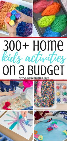 Over 300 Best At Home Kids Activities on a budget - Tips and Ideas - Active Littles activities for kids at home Kids Activities At Home, Birthday Activities, Educational Activities For Kids, Outdoor Activities For Kids, Infant Activities, Preschool Activities, Nanny Activities, Babysitting Fun, Summer Kids