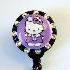 Nurse Hello Kitty badge holder