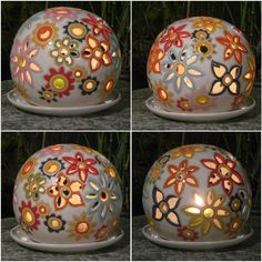 See the source image Ceramics Projects, Clay Projects, Clay Crafts, Ceramic Lantern, Ceramic Light, Ceramic Painting, Ceramic Art, Ceramic Pottery, Pottery Art