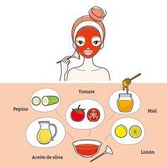 Mascarilla miel y tomate