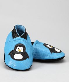 Another great find on #zulily! Augusta Baby Blue Penguin Leather Booties by Augusta Baby #zulilyfinds