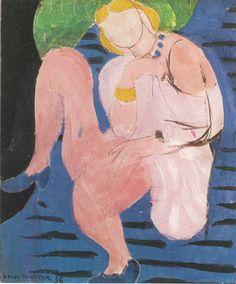 Henri Matisse, Nude on a Blue Background, 1936