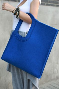 Geometric blue bag