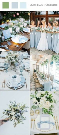 spring summer light blue and greenery wedding color ideas wedding colors 20 Light Blue Wedding Color Ideas for Spring 2020 Best Picture For small spring wedding cake For Your Taste You are look Beach Wedding Colors, Winter Wedding Colors, Winter Weddings, Fairytale Weddings, Rustic Weddings, Unique Weddings, Baby Blue Wedding Theme, Spring Wedding Themes, Popular Wedding Colors