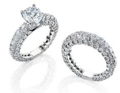 Gregorio 18k White Gold and 4.35CT Diamond Engagement Set  Price : $18,400.00 http://www.blountjewels.com/Gregorio-White-4-35CT-Diamond-Engagement/dp/B008WG0JS2