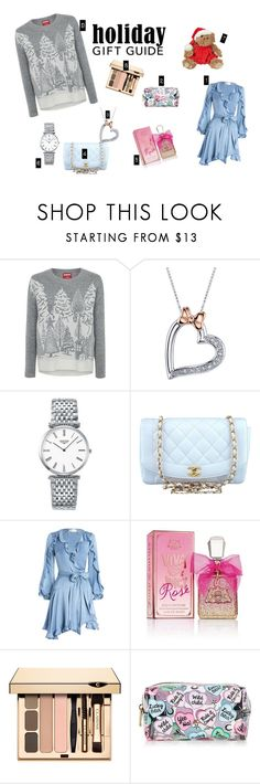 """""""Gift Gide BFF"""" by alliecat-91 ❤ liked on Polyvore featuring George, Disney, Longines, Chanel, Zimmermann and Juicy Couture"""