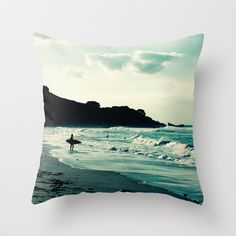 Surf throw pillow.