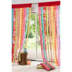 Burlap Curtains With Pom Poms lace curtains posts.How To Properly Hanging Curtains. Drop Cloth Curtains, Beaded Curtains, Colorful Curtains, Hanging Curtains, Drapes Curtains, Orange Curtains, Brown Curtains, French Curtains, Short Curtains