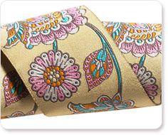 "Renaissance Ribbons - 1-7/8"" Dandelion Deer Me Flower - Tula Pink"