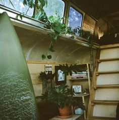 Cosmic Collider Vintage Bus Remodel - Stairs - 2nd Story