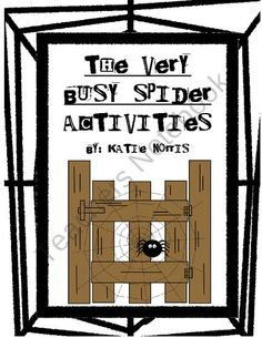 Everyone has their favorite Eric Carle books they want to share with their students; so this is the perfect way to mix and match the books that work best for you. This set includes everything for The Very Busy Spider that you would find in my author study