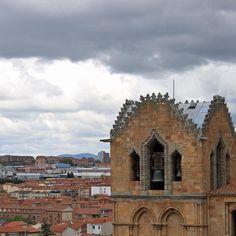 Menacing sky. Ávila Castilla y León Spain.