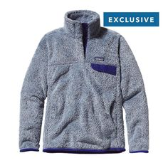 Patagonia Women\'s Special Edition Re-Tool Snap-T\u00AE Fleece Pullover - Leaden Blue - Classic Navy X-Dye LCNX