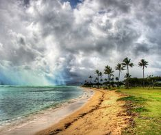 The water in Oahu had an unusual quality of keeping that turquoise color even if there was very little sun in the sky. It seemed like just a bit of sunshine is all that was needed to get into that crystal water and bounce around like a jewel.  - Oahu, Hawaii  - Photo from #treyratcliff Trey Ratcliff at http://www.StuckInCustoms.com