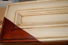 Great Method To Cream Glazed Kitchen Cabinets Distressed Furniture Cabinets Crea. Glazed Kitchen Cabinets, Painting Kitchen Cabinets, Kitchen Paint, Kitchen Redo, Kitchen Ideas, Kitchen Designs, Kitchen Cleaning, Kitchen Pictures, Kitchen Colors