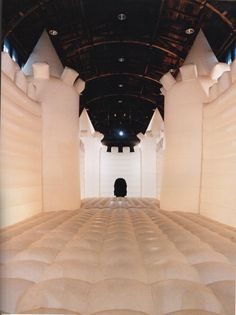 white bouncy castle. I would get married here.