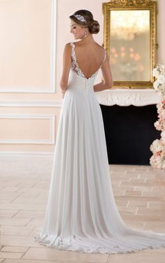 6393 Flowy Beach Wedding Dress by Stella York