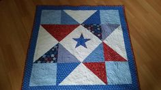 Lone star quilt for a baby boy, yet to arrive