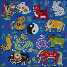 Chinese animals of the Zodiac. This would make a fun project for World Thinking Day.  Make photo copies of each animal from the Chinese Zodiac and have kids color the animal from their birth year.  I am thinking book marks!