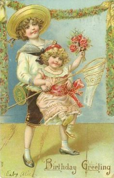 Library, Vintage Greeting Cards... Birthday