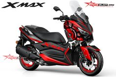 Halo mas dab… kali ini motoblast akan membuatkan modifikasi striping untuk yamaha XMAX 250 tema livery sunmoon wintertest namun dengan warna red version, monggo di [...] Aerox 155 Yamaha, Yamaha Nmax, Yamaha Scooter, Moto Scooter, Yamaha Motor, 49cc Moped, Xmax, Motorized Bicycle, Motosport