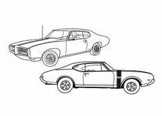 Muscle Cars Coloring Pages Decimamas Car Patterns Pinterest