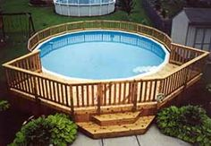 deck designs for round pool | Pool Decks Home Improvement, Home Goods, Home Improvement Projects, Home Improvements