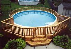 deck designs for round pool | Pool Decks