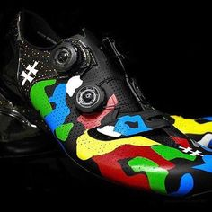 Custom Iamspecialized_road kicks for Peter Sagan to match his bike by @artfulkicks