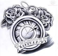Znalezione obrazy dla zapytania clock tattoo