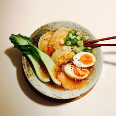 [homemade] Miso ramen with dumplings #food #foodporn #recipe #cooking #recipes #foodie #healthy #cook #health #yummy #delicious