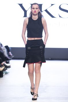 Explore the looks, models, and beauty from the Yks By Yong Kyun Shin Autumn/Winter 2015 Ready-To-Wear show in Vancouver on 17 March 2015 Fall Winter, Autumn, Vancouver, Leather Skirt, Ready To Wear, Street Wear, Skirts, Model, How To Wear