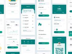 Financial app ui interface e-wallet, finance, payment apps Android Design, App Ui Design, Interface Design, Interface App, Dashboard Design, Design Design, Graphic Design, Ui Design Mobile, Mobile Application Design