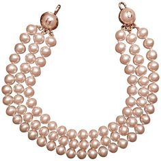 Pre-owned Three-row Pearl Necklace (€1.414) ❤ liked on Polyvore featuring jewelry, necklaces, collane, pearls, cream, preowned jewelry, chanel jewelry, chanel, pearl jewelry and beading jewelry
