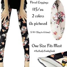 Taking orders on these floral leggings #nanagsfunkyjunk one size fits most #floral #leggings $15/ea + S&H $5/up to 6 items DM for invoice or to book a trunk show #trunkshow #jamieleigh #jamieleighbug #fallfashion #boutique #fashion limited quantities available. Avoid shipping cost,local pick up or drop off available..