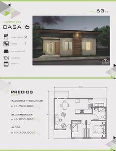 Modelos y Diseños de Casas de Un Piso Costa Rica House Layout Plans, Dream House Plans, Modern House Plans, House Layouts, Small House Plans, House Floor Plans, Building Layout, Home Design Floor Plans, D House