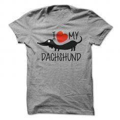 I love my Dachshund T Shirts, Hoodies. Get it now ==► https://www.sunfrog.com/Pets/I-love-my-Dachshund-SportsGrey-21868284-Guys.html?57074 $22