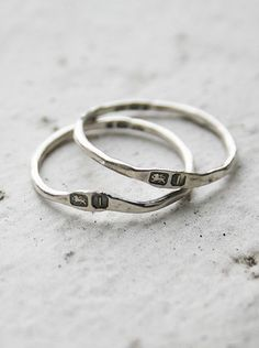 hallmarked rings by macha jewelry. she can do no wrong.