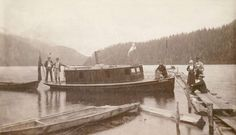 """The steam yacht """"Yvonne"""" at Granite Falls near Indian River, August (Photo by W. Tegart, via Vancouver Archives) Granite Falls, Indian River, Boats, Photograph, Around The Worlds, Explore, History, Digital, Historia"""