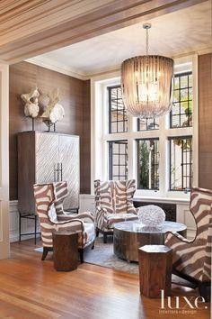 tommy bahama living room decorating ideas - home interior Zebra Living Room, Cozy Living Rooms, Living Room Furniture, Living Room Decor, Sitting Rooms, Sitting Area, Home Design, Design Ideas, Pinterest Room Decor