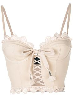 Fenty X Puma scalloped hem corset top – Women Fashion Lingerie Design, Lingerie Look, Fashion Design Inspiration, Mode Inspiration, Pink Crop Top, Pink Tops, Lace Crop Tops, Nude Shirt, Edgy Outfits