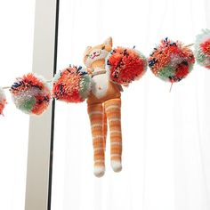 This soft and fuzzy Pom Pom Garland has a multitude of uses. Try hanging it on a mantel, Christmas tree or even a window. It comes in two brilliant color schemes and features large pom poms with a braided hanging cord. Kids Wall Decor, Art Wall Kids, Large Pom Poms, Pom Pom Garland, Baby Store, Crate And Barrel, Kids Furniture, So Little Time, Girl Room