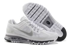 Nike Air Max+ 2013 Women's Running Shoes - White / Silver / Wolf Grey