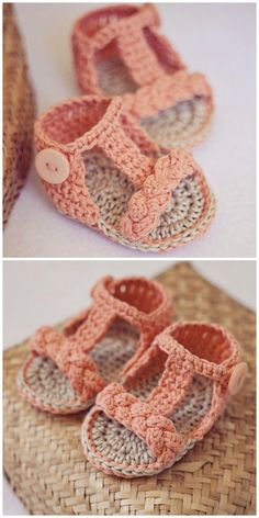 Most up-to-date Photos Crochet baby girl patterns Ideas Crochet Baby Sandals Patterns Cutest Ideas Crochet Baby Sandals, Booties Crochet, Baby Girl Crochet, Crochet Baby Clothes, Cute Crochet, Baby Booties, Crochet Summer, Easy Crochet, Crochet Hats