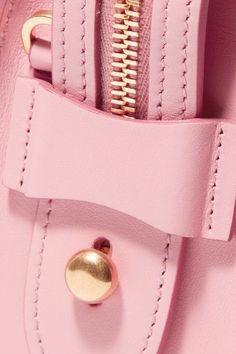 Prada - Esplanade Smooth And Textured-leather Shoulder Bag - Pink - one size