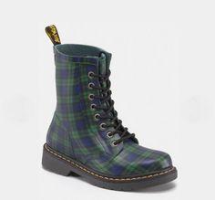 NIB Dr. Martens Drench 1460 Black Watch Tartan Wellington Boots UK 3-9 US 5-11 L