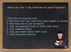 What are the 7 top features of great leaders? #leadership #infographic