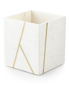 Shop Marble Brass Vanity Accessories from Kassatex at Horchow, where you'll find new lower shipping on hundreds of home furnishings and gifts. Gold Bathroom Accessories, Gold Desk, Marble Bath, Trash Bins, Vanity Tray, Decorate Your Room, Tissue Box Covers, Decoration, Brass
