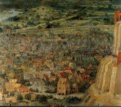 1563 Pieter Bruegel the Elder – The Tower of Babel, Detail the city on the left Wild Bull, Pieter Bruegel The Elder, Epic Of Gilgamesh, Tower Of Babel, Ancient Symbols, City Maps, Renaissance Art, Art Pictures, Art History